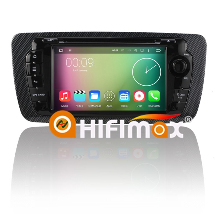HIFIMAX Android 6.0 car radio dvd player with gps navigation system for SEAT IBIZA (2009-2013)