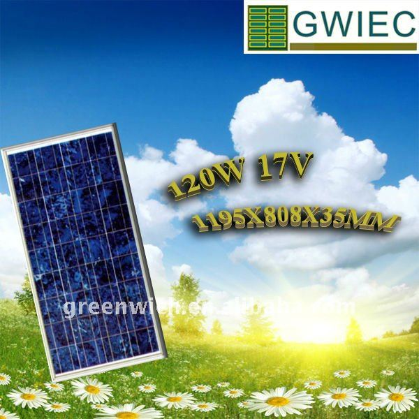 SOLAR POWER GENERATION SYSTEMS PANELS 120W Polycrystalline