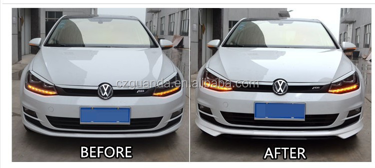 For VW GOLF 7 ABT Style Carbon Fiber Racing Front Lip