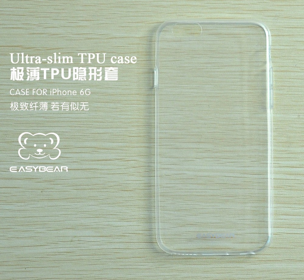 China Wholesale Price Ultra Thin Silicone Transparent Phone Accessories Cheap Silicon Case for iPhone 6