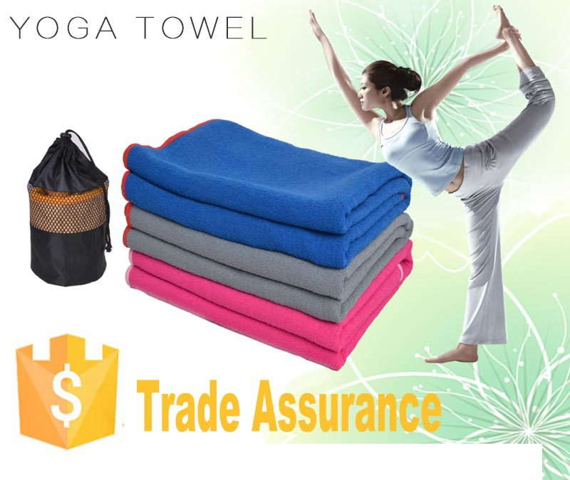 Microfiber yoga mat great color big size yoga blanket size 24*72inch manufacturers OEM brand