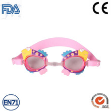 Childrens Swim Goggles with Cartoon 100% Silicone Cheap Price Kids Swimming Goggles