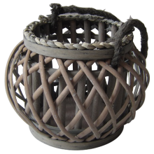 Small willow lantern with a rope handle