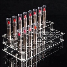 Supermarket retail custom makeup display stand/ acrylic cosmetic lipstick display rack