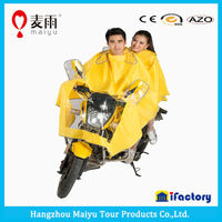 dual two heads motorcycle rain poncho