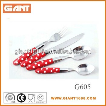 New high quality dot handle cutlery set