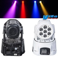 Super-affordable Stage Light 7X10-Watt RGBW Quad Color LED Moving Head with Saturated Color Mixing