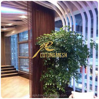Aluminum coil drapery /sliding metal bathroom curtain with best price