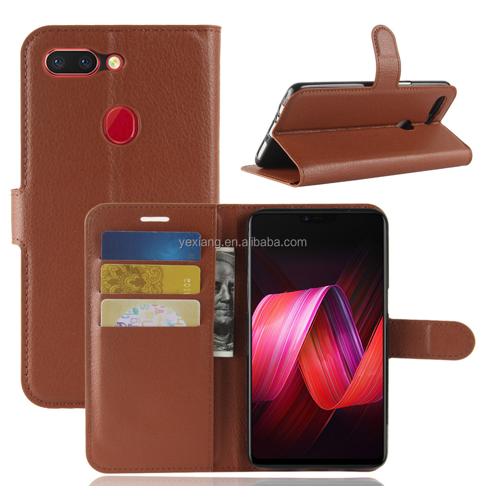 Factory Price Flip Leather Wallet Mobile Phone Case for Oppo R15