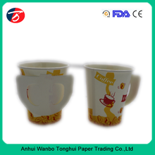 7oz hot coffee paper cups with handle