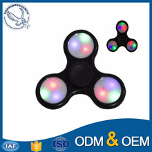 2017 Best Selling Steel Fidget Spinner, Hand Spinner Made of Copper and Brass with Led Light
