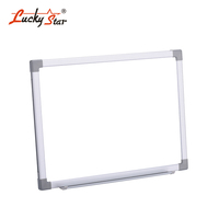 Double Sided School Classroom Magnetic Erasable Writing White Board With Aluminum Frame, Plastic Corners, Marker Pen Holder