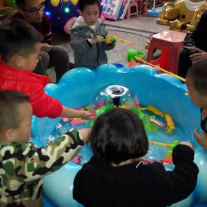 CHILDREN FIBERGLASS FISHING POND POOL INDOOR GAME FOR KIDS PLAY