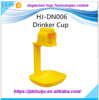Plastic automatic animal poultry chicken drink cup for chicken nipple drink cup HJ-DN006