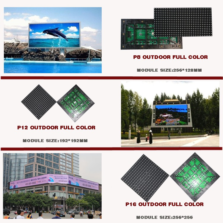 Hot products LED display board price P10 outdoor led video board