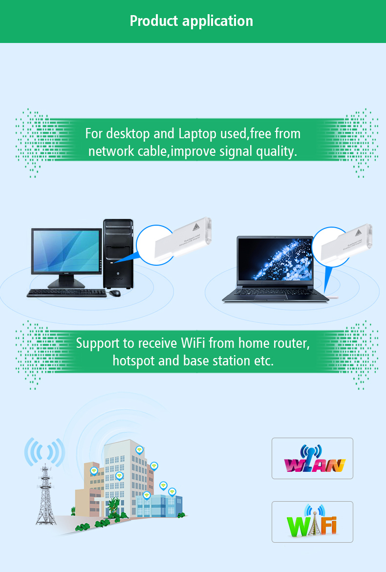 600M wifi range extender AC Dual band USB wireless network wifi adapter RTL8188 AU chip, M15D