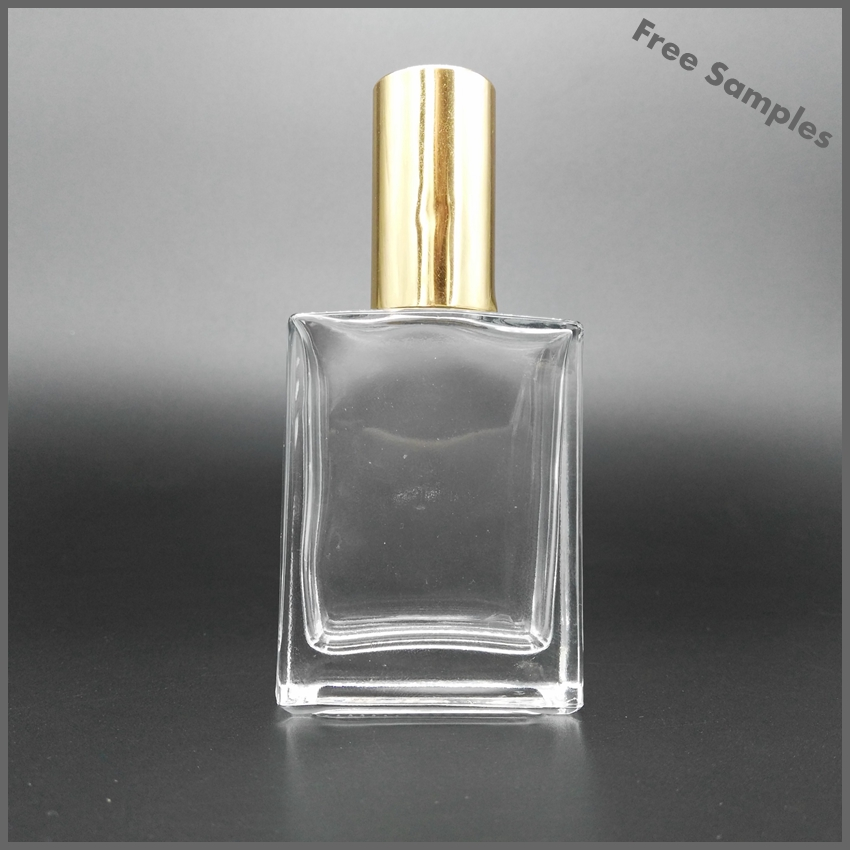 50ml square antique perfume glass bottle with atomizer