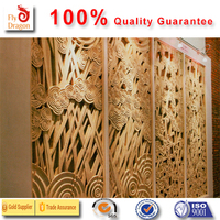 High quality polyurethane moulding 1q 3 d decorative large wall panel