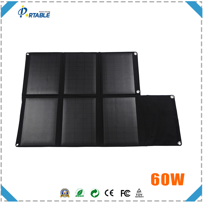 China 60w high efficiency portable sunpower folding solar panel for sale