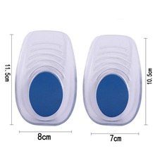 Jianhui 2017 new arrival washable super comfort foot care shock absorption gel heel cup with poron