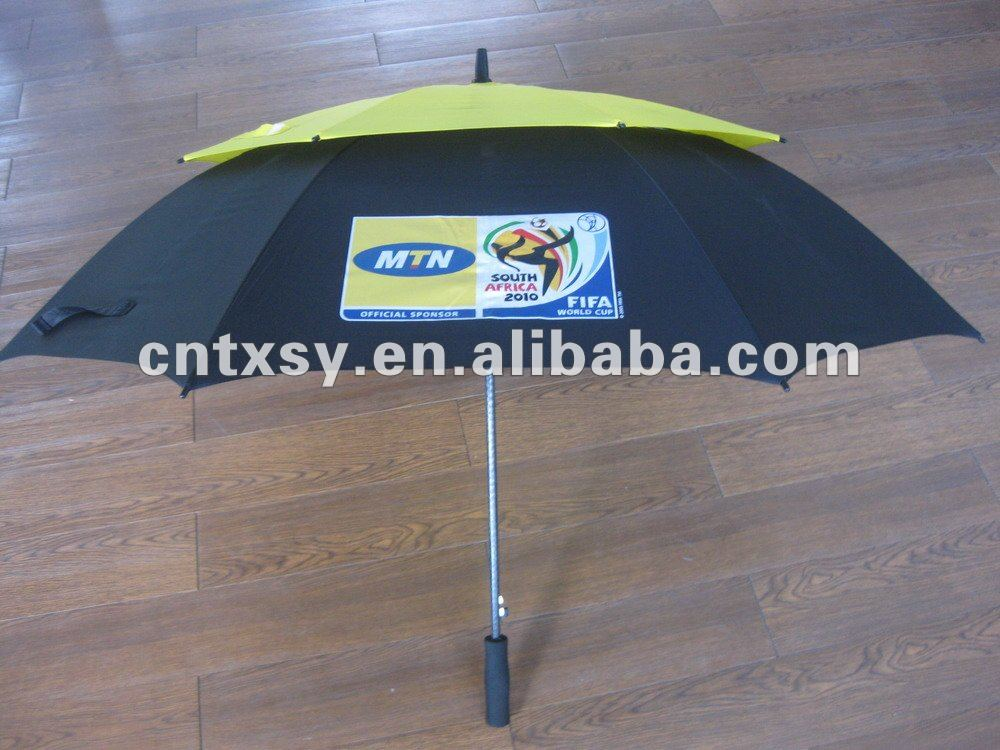 windproof MTN promotional golf umbrella with customized print
