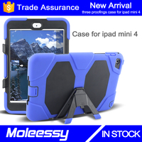 New hot armor shockproof case for ipad mini4 with kickstand
