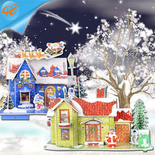 Paper Houses to Make and Decorate for the Christmas Christmas Miniature or Mini Decorative Houses