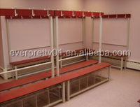 Durable Compact Laminate Bench Long Bench with Clothes Rack