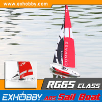 Cheap custom weight 930g radio control toys plastic white sail boat catamaran