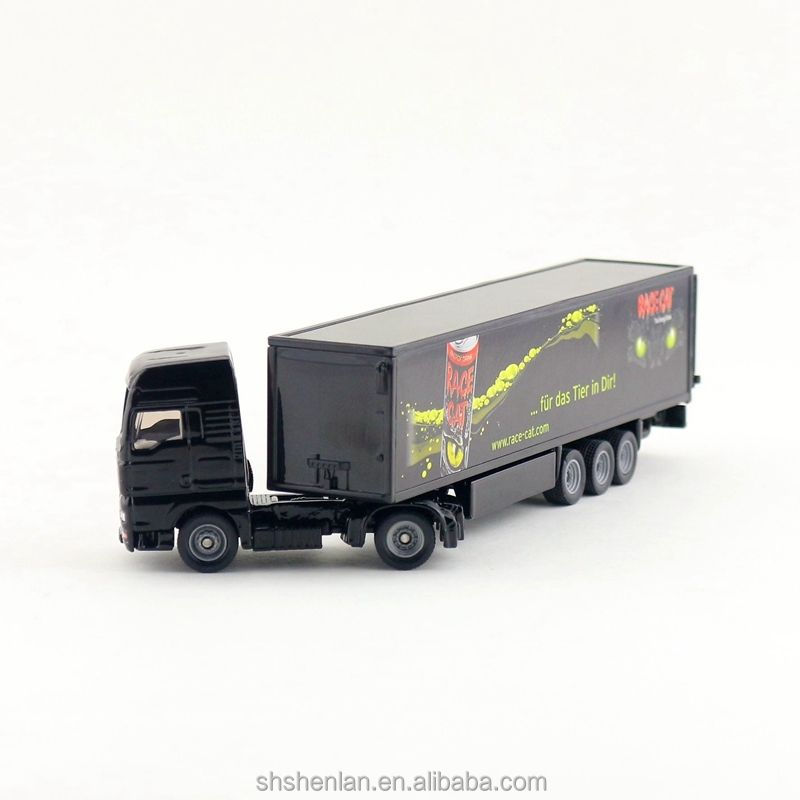 1:87 20 cm length cargo truck models with container model