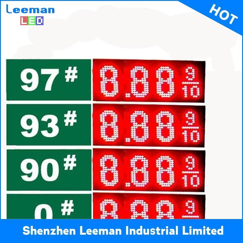 4 inch led gas price sign LEEMAN RGB 7 segment countdown/countup timer digital clock