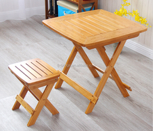 Modern Dining Table Folding Legs Bamboo Outdoor Furniture wooden Table