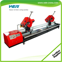 Cold laminated PVC banner sliter roll cutter