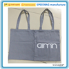 Custom LOGO Gery color cotton shopping bag with LOGO