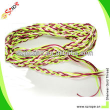 fashion cord braided bracelet multi colored woven bracelets adjustable wholesale satin cord bracelet