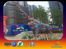 attraction in amusement park and outdoor playground colorful giraffe model for exhibition