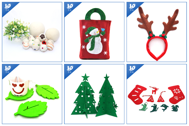 China durable Christmas wool felt stars decoration gifts
