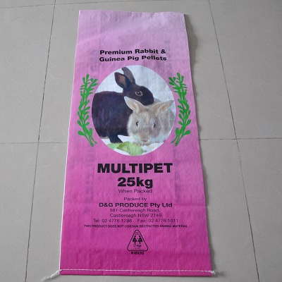 china leading supplier perfecting laminated animal feed 25kg pp knit bag high quality