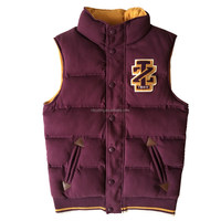 OEM design men's sleeveless jacket from JD knitted garment