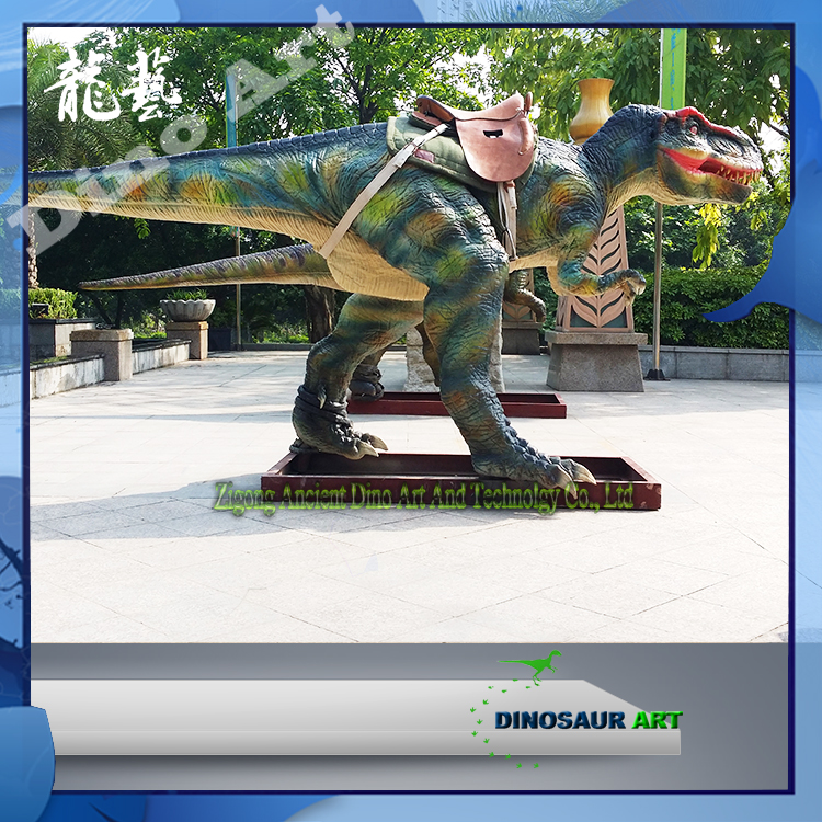 Outdoor coin operated games high emulation amusement walking dinosaur ride