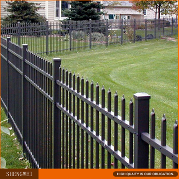 Hot galvanized faux wrought iron fence manufacturer