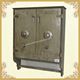 Primitive green wall cabinet