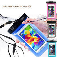 Waterproof phone pouch for swimming mobile phone carry bag