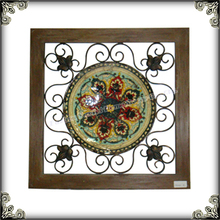 Vintage wall decor indoor scroll wall plaque