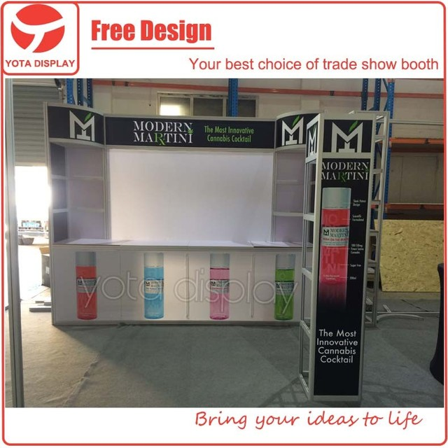 Yota offer 3mx3m booth,10x10 design exhibition display stand system