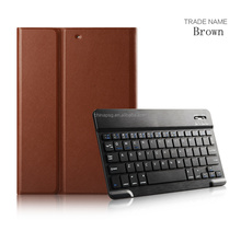 Factory Selling Price Case For iPad Air1/2, Bluetooth Keyboard with Executive PU Leather Case for ipad air1/2