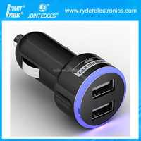 500mah 1A 2A output Super fast wholesale Customized OEM 2 port usb car charger for Iphone6 usb car charger