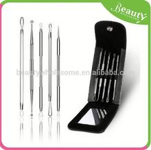 Export black head+black sucked out+smaller essence ,yn5b blackhead & blemish remover kit with mirror-5 piece surgical steel