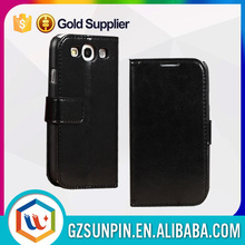 Hot sale beautiful leather flip case for galaxy s3 neo
