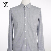 China Wholesale Factory Direct Men's Long Sleeve Plaid Shirt 100% pure cotton Male casual Check Shirts slim fit